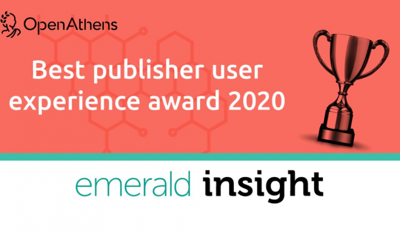 Emerald Publishing win Best User Experience Award!